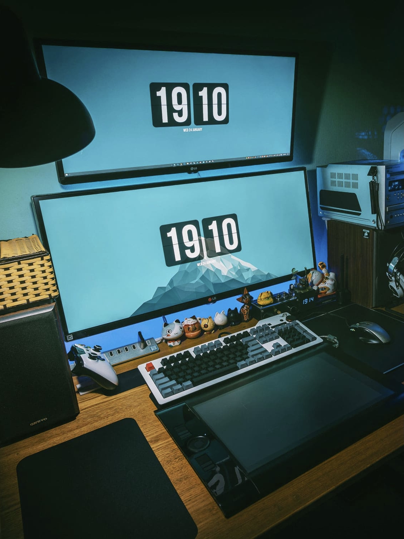 Gaming-Zimmer_Einrichtung_mit_Computer_Bildschirm