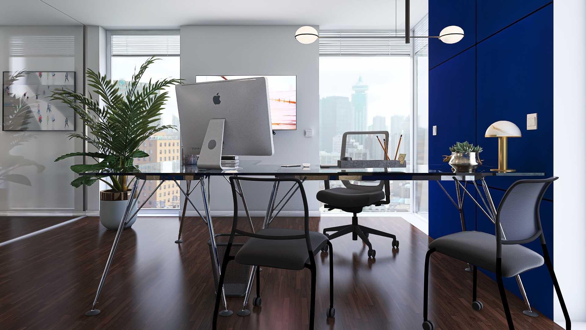 Büro_Einrichtung_blau_Schreibtisch
